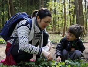 Gitte og Willum plukker skvalderkål